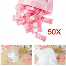 Compressed travel towel - cotton 50 pieces