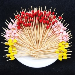 Decorative bamboo sticks for cocktail skewers 12cm 100 pieces