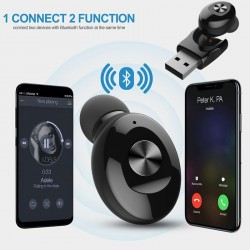 5.0 mini Bluetooth earphone - wireless earbud pod with USB charging