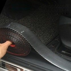 5D car sticker - carbon fiber door sill protector