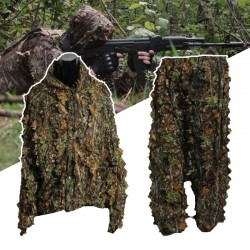 Hunting suit with 3D leaves - camouflage set