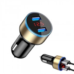 5V 3.1A - Led - universal phone car charger with dual USB
