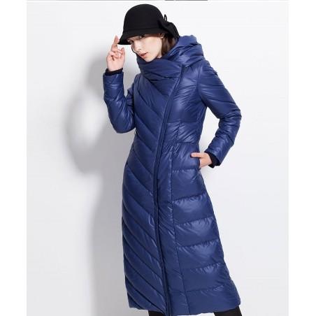 Winter waterproof long coat - down jacket with hood - plus size