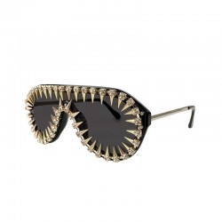Vintage steampunk sunglasses with rivets - unisex