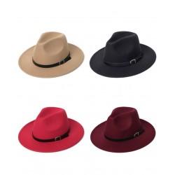Fashionable cotton hat with a decorative belt