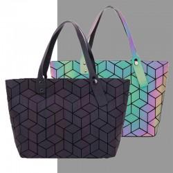 Geometry totes sequins - mirror effect - luminous bag