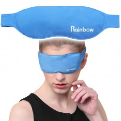 Gel eye mask - cooling & antipyretics therapy - hot & cold sleeping mask