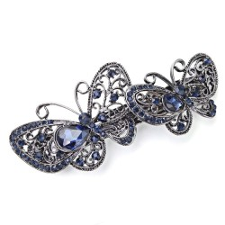 Hair clip with crystal butterfly
