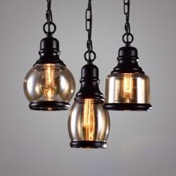 Retro iron & glass - LED lamp
